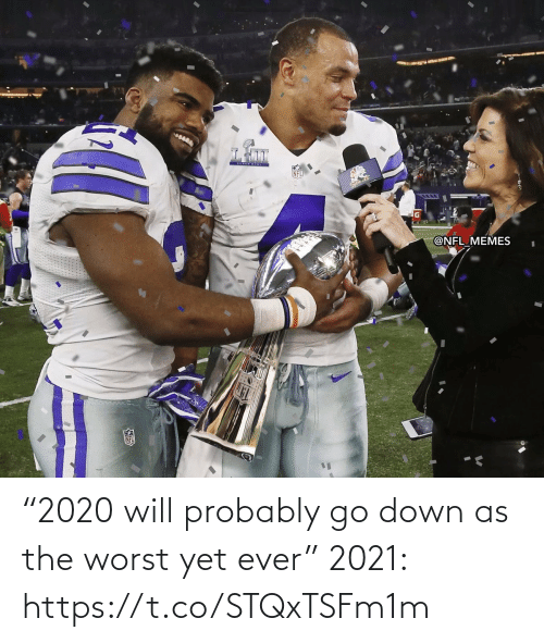 """NFL: """"2020 will probably go down as the worst yet ever""""  2021: https://t.co/STQxTSFm1m"""