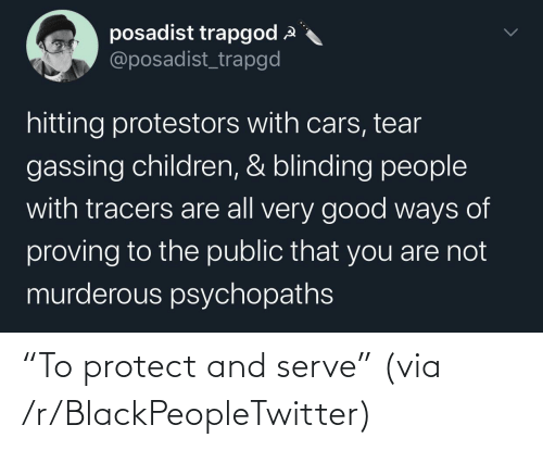 """R Blackpeopletwitter: """"To protect and serve"""" (via /r/BlackPeopleTwitter)"""