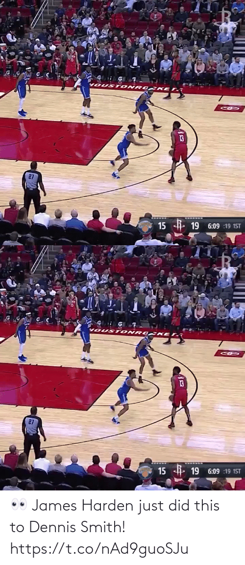 Smith: 👀 James Harden just did this to Dennis Smith!  https://t.co/nAd9guoSJu