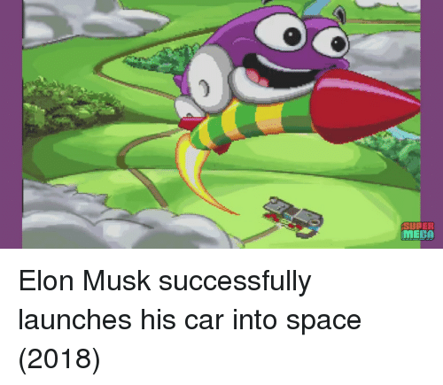 meca: 0  MECA Elon Musk successfully launches his car into space (2018)