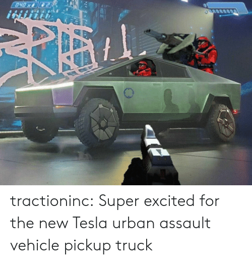 Urban: 040x tractioninc:  Super excited for the new Tesla urban assault vehiclepickup truck