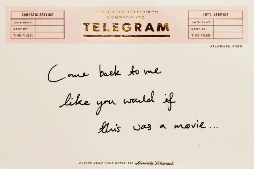 Telegraph: 1,  13t) R ELY TELEGRAPH  DOMESTIC SERVICE  INT'L SERVICE  DATE SENT:  SENT BY:  TIME FILED:  TELEGRAM  DATE SENT:  SENT BY  TIME FILED:  STANDARD FORM  baek to me  PLEASE SEND YOUR REPLY VIA eisurely Telegraph
