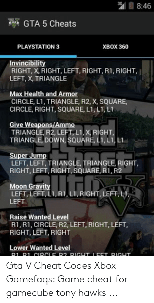 gta 5 cheat codes ps4 gamefaqs