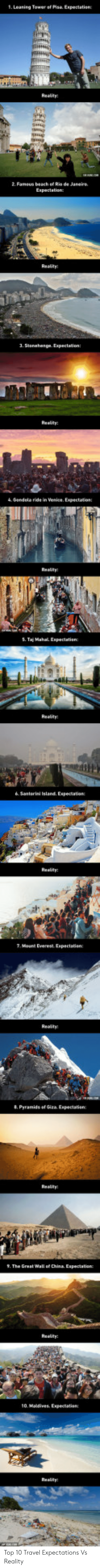 Travel, Reality, and Top: 1. Leaning Tower of Pisa Expectation Top 10 Travel Expectations Vs Reality