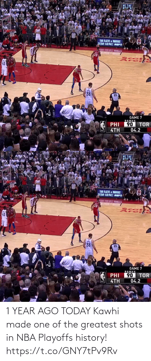 kawhi: 1 YEAR AGO TODAY  Kawhi made one of the greatest shots in NBA Playoffs history!  https://t.co/GNY7tPv9Rv