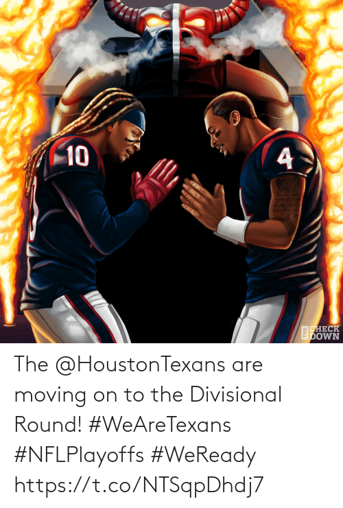Round: 10  CHECK  EDOWN The @HoustonTexans are moving on to the Divisional Round! #WeAreTexans #NFLPlayoffs  #WeReady https://t.co/NTSqpDhdj7