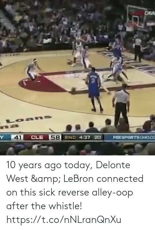 Reverse: 10 years ago today, Delonte West & LeBron connected on this sick reverse alley-oop after the whistle!    https://t.co/nNLranQnXu