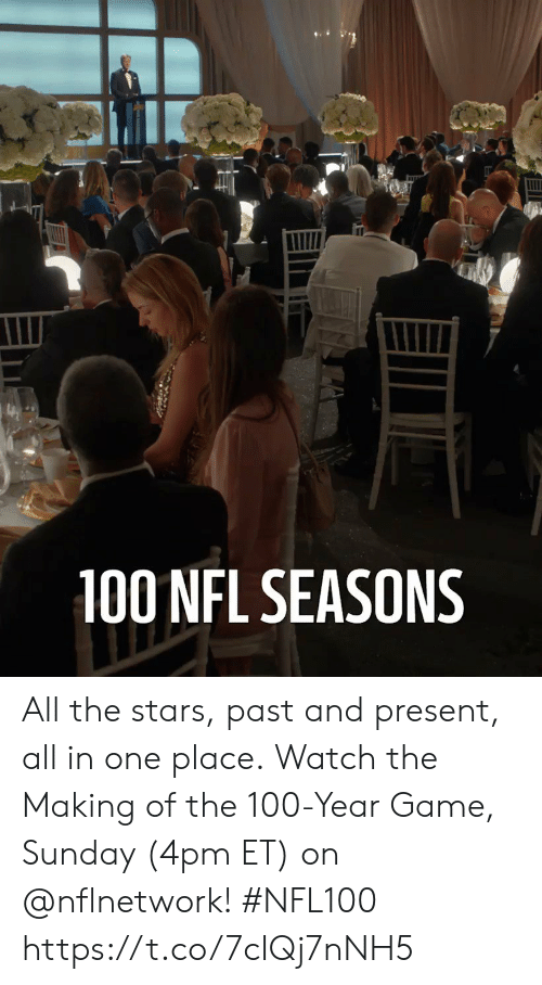 Anaconda, Memes, and Nfl: 100 NFL SEASONS All the stars, past and present, all in one place.  Watch the Making of the 100-Year Game, Sunday (4pm ET) on @nflnetwork! #NFL100 https://t.co/7cIQj7nNH5