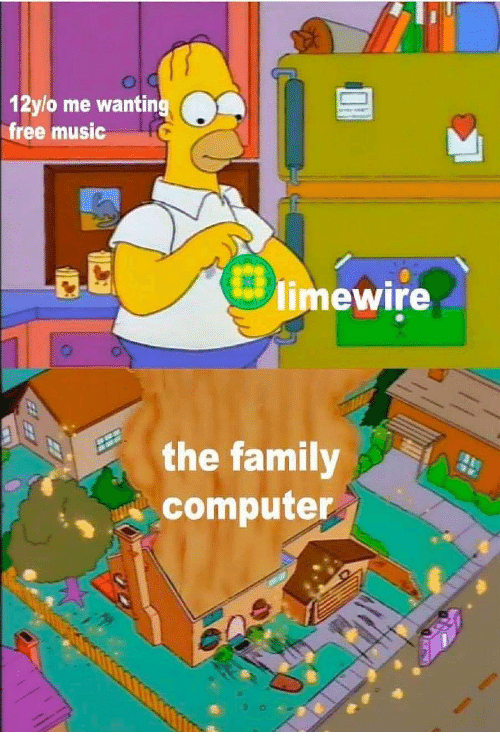 Family, Music, and Computer: 12ylo me wantin  free music  limewire  the family  computer
