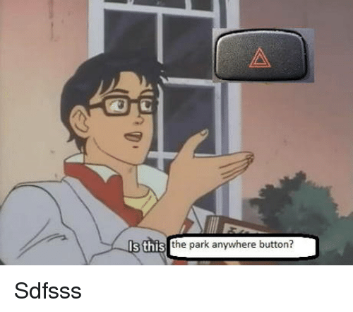 Park, This, and Button: 1s this the park anywhere button? Sdfsss