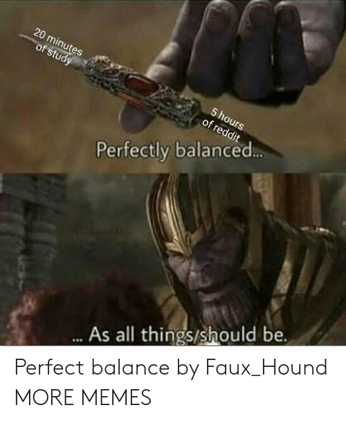 Dank, Memes, and Target: 20  of  Perfectly balanced  As all things/should be. Perfect balance by Faux_Hound MORE MEMES