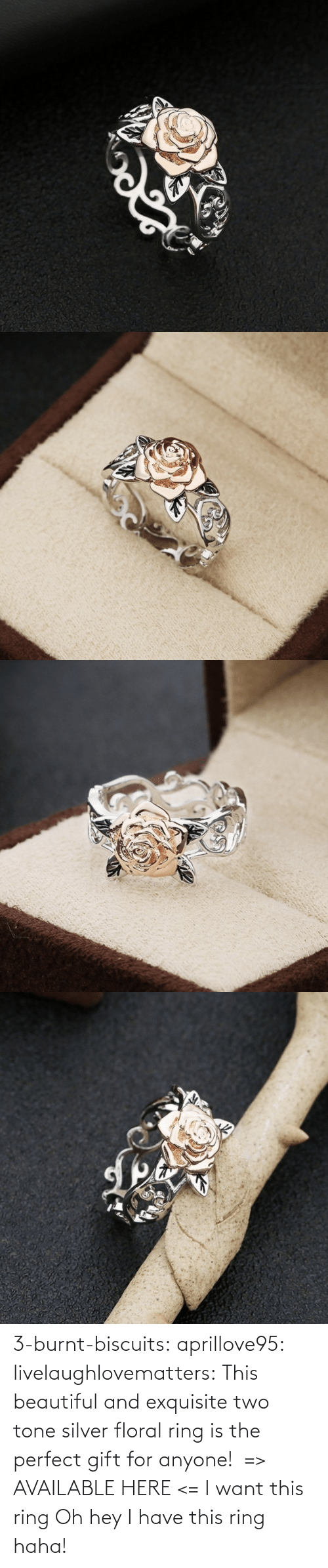 Oh Hey: 3-burnt-biscuits: aprillove95:  livelaughlovematters:  This beautiful and exquisite two tone silver floral ring is the perfect gift for anyone! => AVAILABLE HERE <=    I want this ring     Oh hey I have this ring haha!