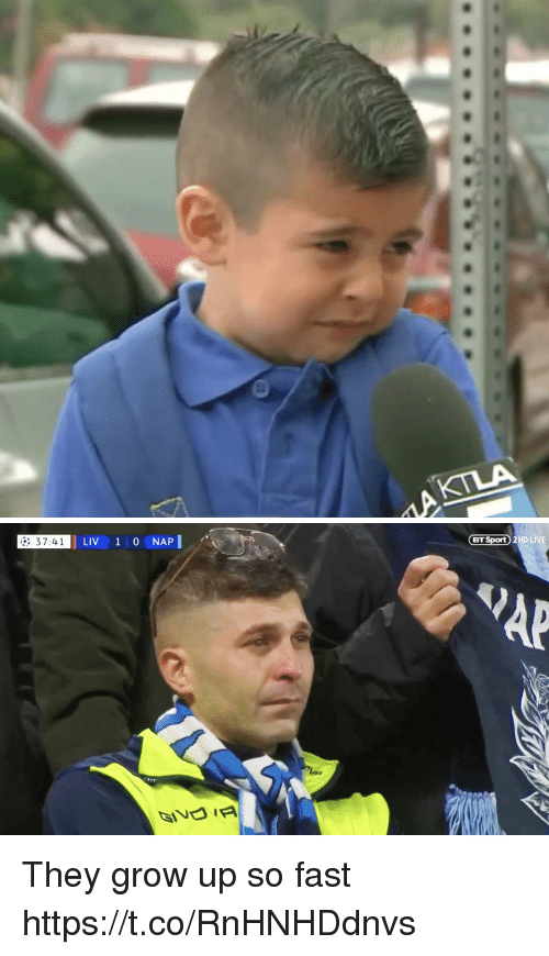 Memes, Live, and 🤖: 37:41  LIV 1 0 NAP  BT Sport) 2HD LIVE They grow up so fast https://t.co/RnHNHDdnvs