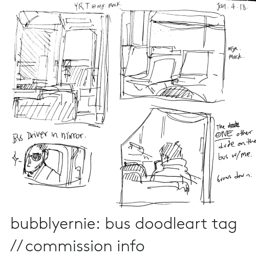 Dude, Target, and Tumblr: 4 (8  MOR  Mack  The dude  ONE other  dude onth  bus me. bubblyernie:  bus doodleart tag // commission info