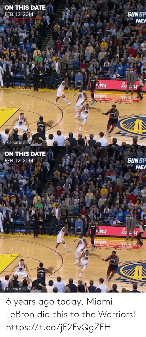 🤖: 6 years ago today, Miami LeBron did this to the Warriors!  https://t.co/jE2FvQgZFH