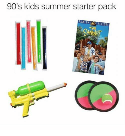 Kidsings: 90's kids summer starter pack