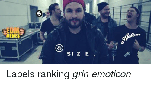 > > Emoticon: MEMES  SI Z E Labels ranking grin emoticon