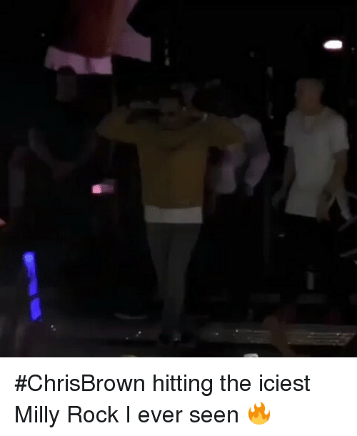 Funny, Milly Rock, and Milly: ChrisBrown hitting the iciest Milly Rock I ever seen 🔥