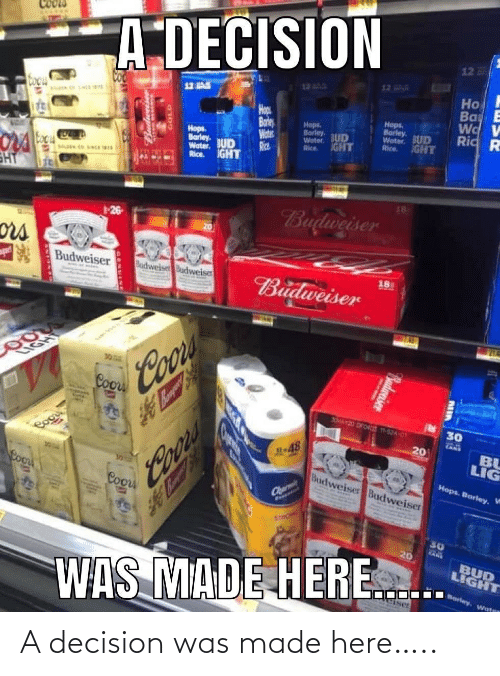 decision: A decision was made here…..