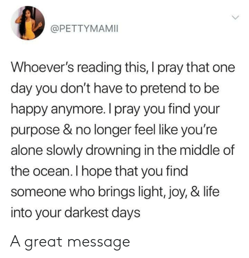 message: A great message