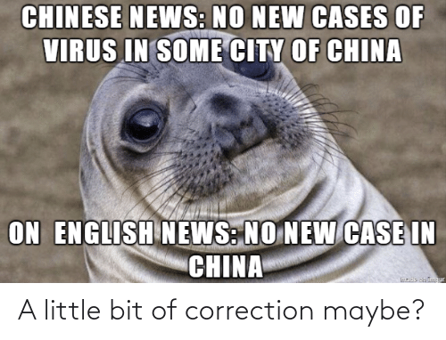 maybe: A little bit of correction maybe?