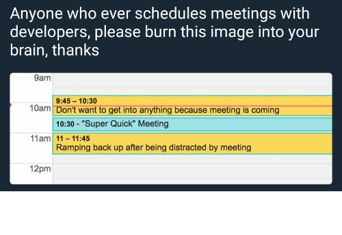 meeting: A meeting as developer