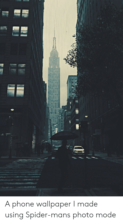 Phone, Spider, and SpiderMan: A phone wallpaper I made using Spider-mans photo mode