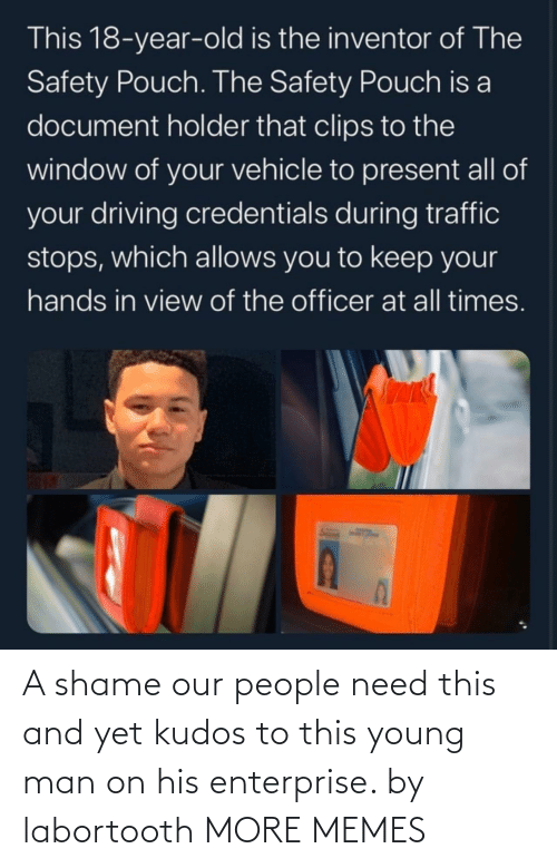 A Shame: A shame our people need this and yet kudos to this young man on his enterprise. by labortooth MORE MEMES