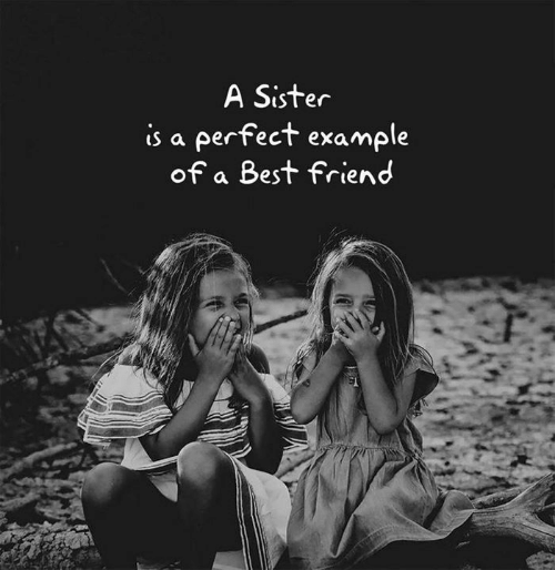 A Best Friend: A Sister  is a perfect example  of a Best friend