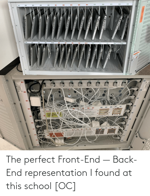 end: A3  A4  c3  /////////  ......  ........L..U  DE-- 1T  18-Iet 1  -  --  -- The perfect Front-End — Back-End representation I found at this school [OC]