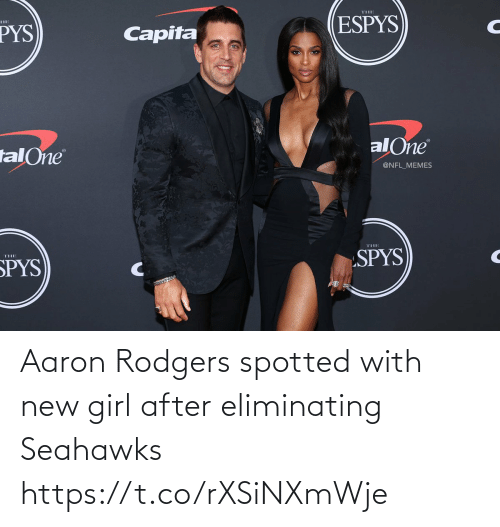 After: Aaron Rodgers spotted with new girl after eliminating Seahawks https://t.co/rXSiNXmWje