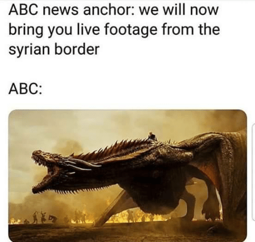 Abc, News, and Abc News: ABC news anchor: we will now  bring you live footage from the  syrian border  АВС: