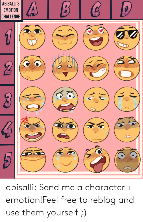 Free: abisalli:  Send me a character + emotion!Feel free to reblog and use them yourself ;)