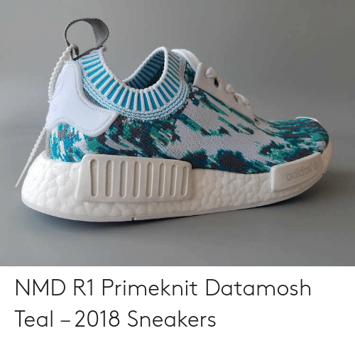the latest 3e1d1 428af Adidas NMD R1 Primeknit Datamosh Teal – 2018 Sneakers ...