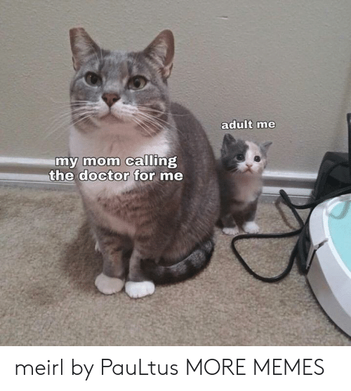 Dank, Doctor, and Memes: adult me  my mom calling  the doctor for me meirl by PauLtus MORE MEMES