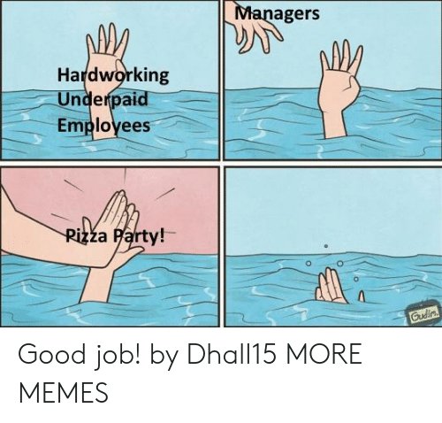 Dank, Memes, and Party: agers  Hardworking  Underpaid  Employees  za Party!- Good job! by Dhall15 MORE MEMES