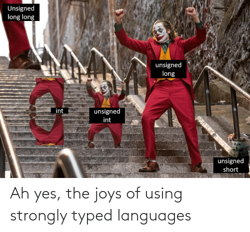 using: Ah yes, the joys of using strongly typed languages