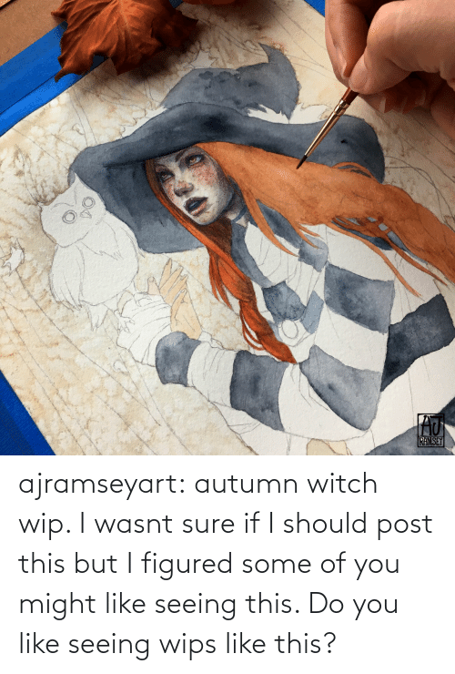 do you: ajramseyart:  autumn witch wip. I wasnt sure if I should post this but I figured some of you might like seeing this. Do you like seeing wips like this?