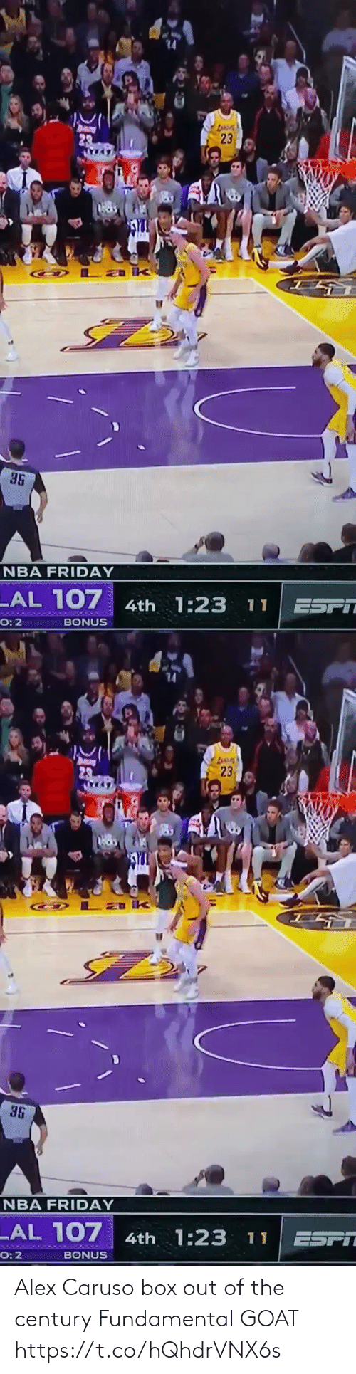 GOAT: Alex Caruso box out of the century  Fundamental GOAT https://t.co/hQhdrVNX6s