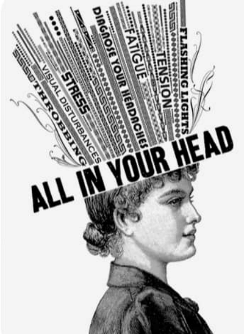 Head, Stress, and Lights: ALL IN YOUR HEAD  FLASHING LIGHTS  ********0ee0e0  TENSION  FATIGUE  DIAGNOSE YOUR HEADACHES  ా  1S151515151S  STRESS  VISUAL DISTURBANCES  S151517THROBBING