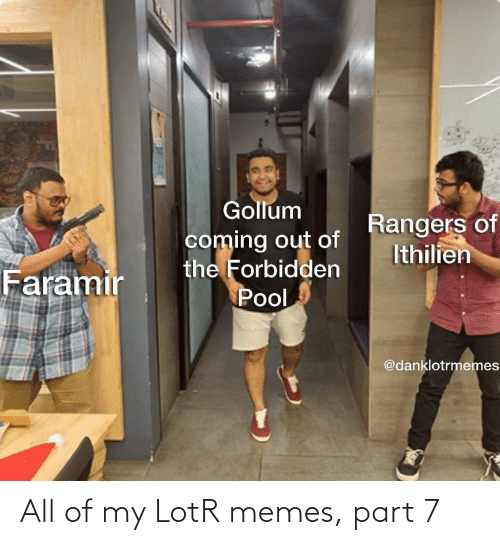 My: All of my LotR memes, part 7
