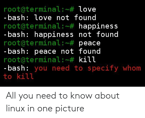need: All you need to know about linux in one picture