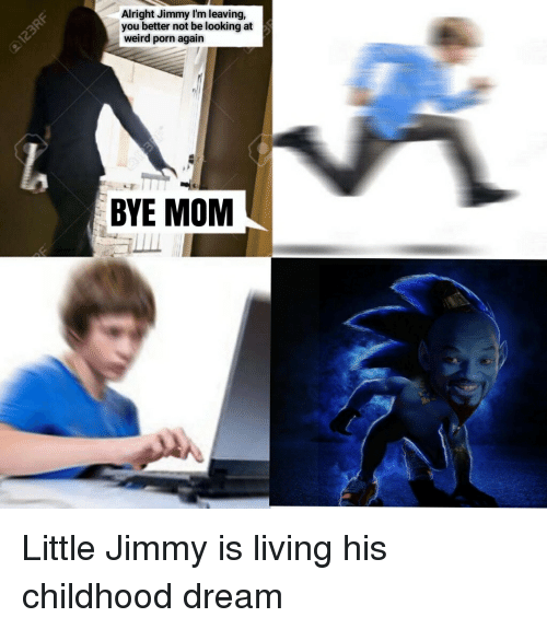 Weird, Porn, and Dank Memes: Alright Jimmy I'm leaving,  you better not be looking at  weird porn again  BYE MOM Little Jimmy is living his childhood dream