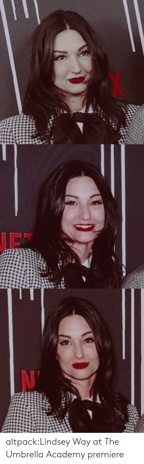 Tumblr, Academy, and Blog: altpack:Lindsey Way at The Umbrella Academy premiere