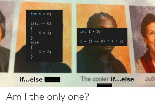 one: Am I the only one?