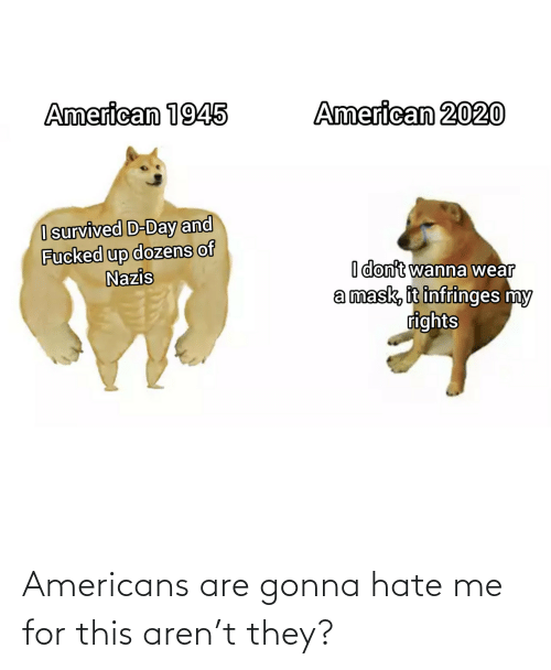 hate: Americans are gonna hate me for this aren't they?
