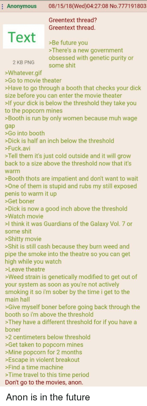 Anonymous 081518wed042708 No777191803 Greentext Thread
