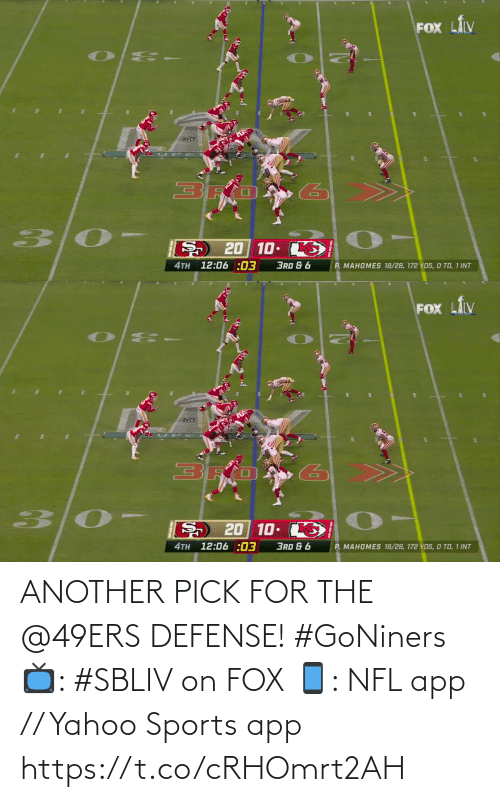 Yahoo: ANOTHER PICK FOR THE @49ERS DEFENSE! #GoNiners  📺: #SBLIV on FOX 📱: NFL app // Yahoo Sports app https://t.co/cRHOmrt2AH