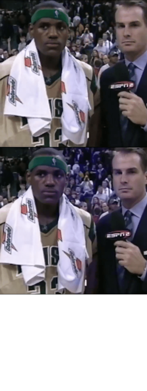 "Memes, Pressure, and School: Antarade ""No pressure for me.""   17 years ago today, @JayBilas interviews 17-year-old @KingJames after his 1st national TV game in high school. https://t.co/uvmyHW5RZN"