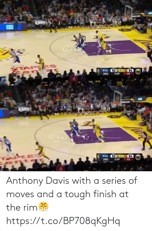 Finish: Anthony Davis with a series of moves and a tough finish at the rim😤 https://t.co/BP708qKgHq
